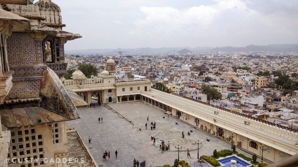 Udaipur looks serene from the top of palace