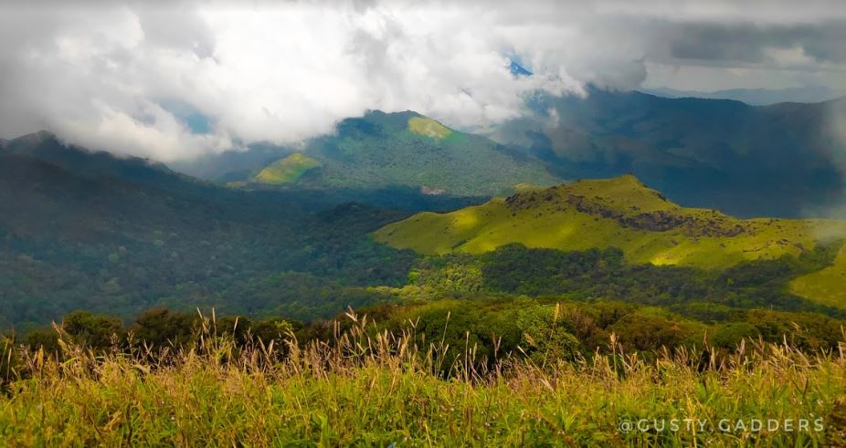 View of Hills from Tadiandamol Peak, Coorg
