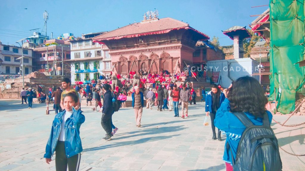 One of the crowded place in Kathmandu