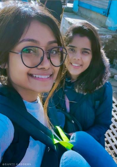 Two Girls in blue jacket in Bir