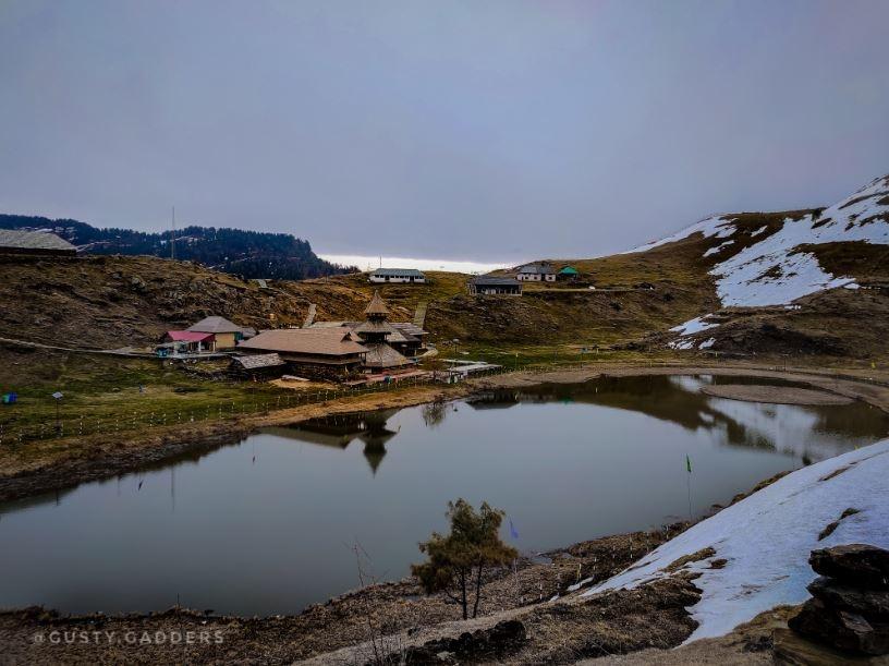 Prashar Lake with Dhauladhar Range of Himalayas in the Backdrop