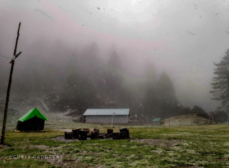 Prashar Lake-Campsite-Snowfall-Himachal-01