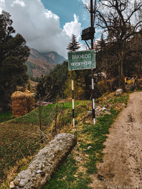 showing starting point from Barot Valley.