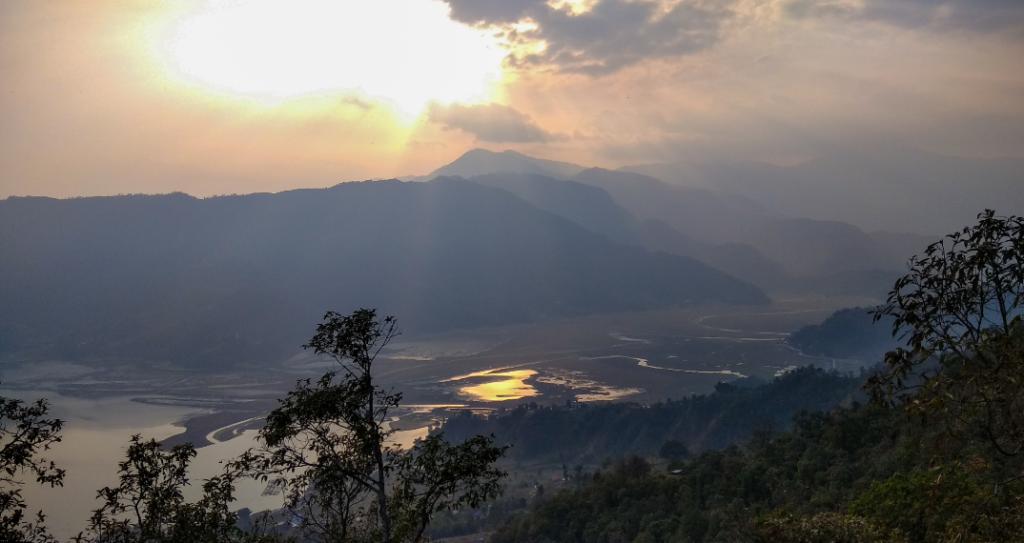 Pokhara looks beautiful from top of Sarangkot.