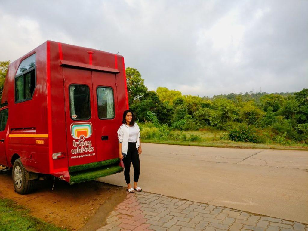A-girl-posing-with-Caravan