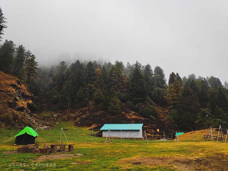 Prashar camp where we slept in freezing cold