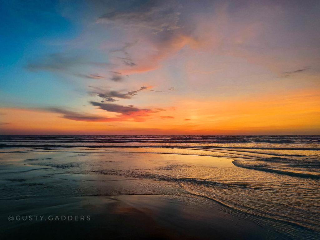 Sea Shore of Arabian Sea in Gokarna at the Time of Sunset