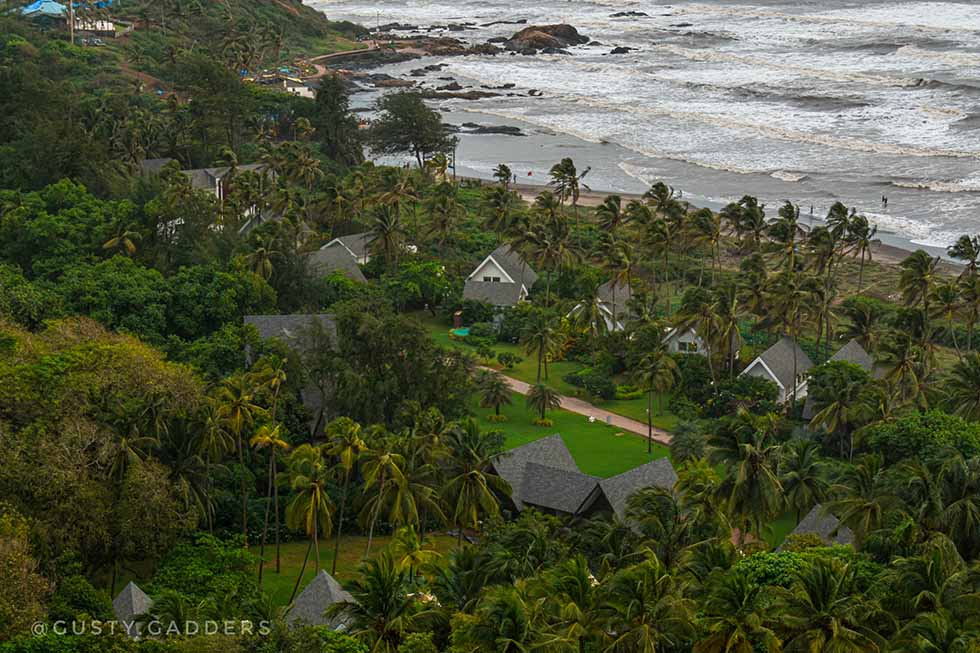 Goa Itinerary- day 1, From top of Chapora fort, Goa